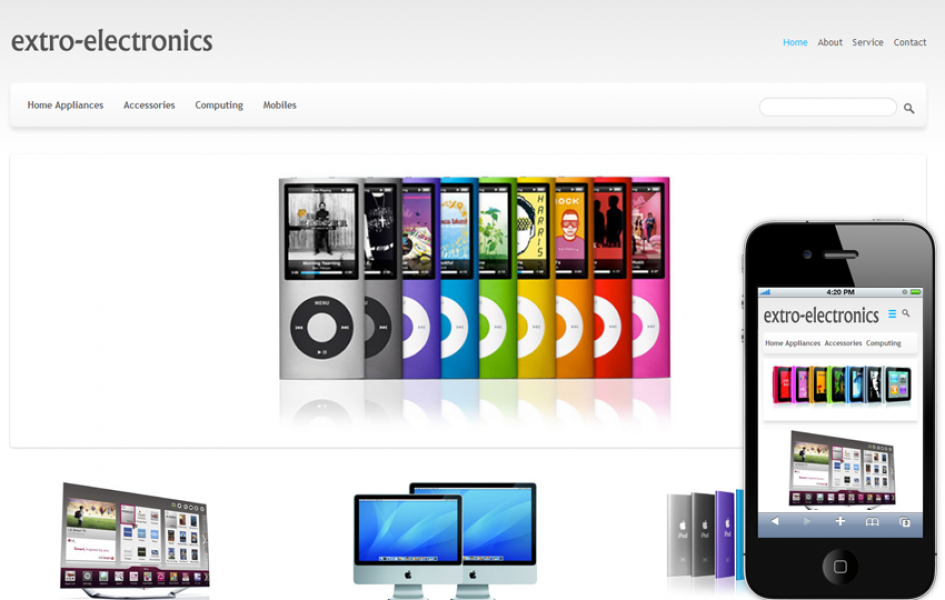 Electronics E-commerce Shopping Mobile Template