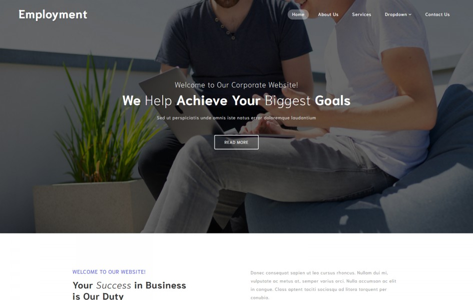 Employment a Corporate Category Bootstrap Responsive Web Template