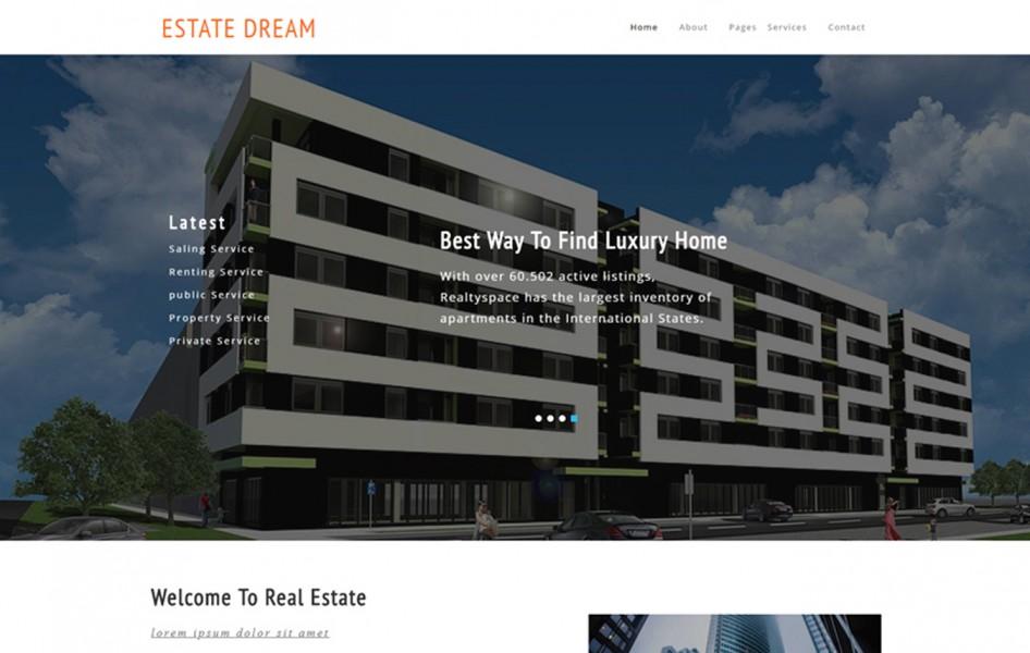 Estate Dream a Realestate Category Bootstrap Responsive Web Template