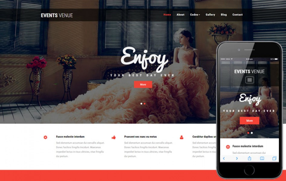Events Venue a Wedding Category Bootstrap Responsive Web Template
