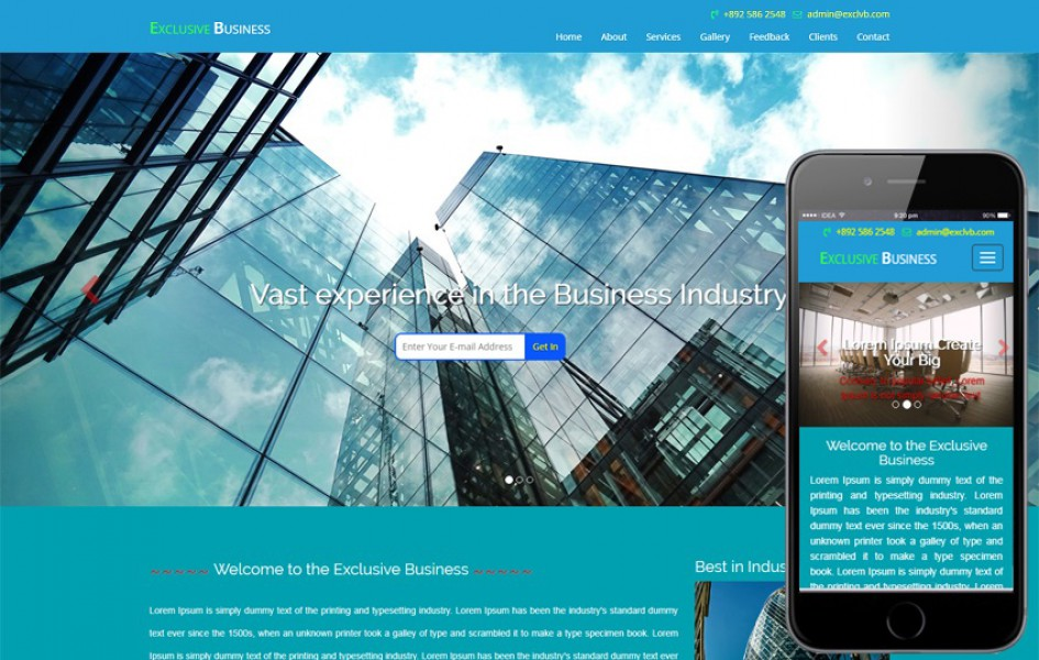 Exclusive Business a Business Category Bootstrap Responsive Web Template