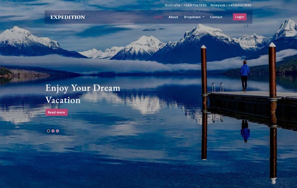 Expedition a Travel Category Bootstrap Responsive Web Template