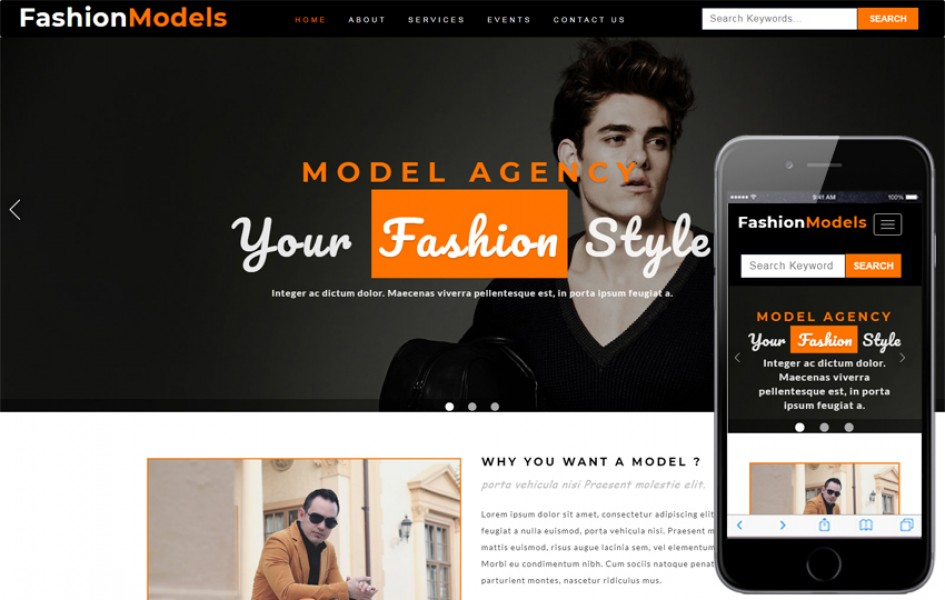 Fashion Models Fashion Category Bootstrap Responsive Web Template