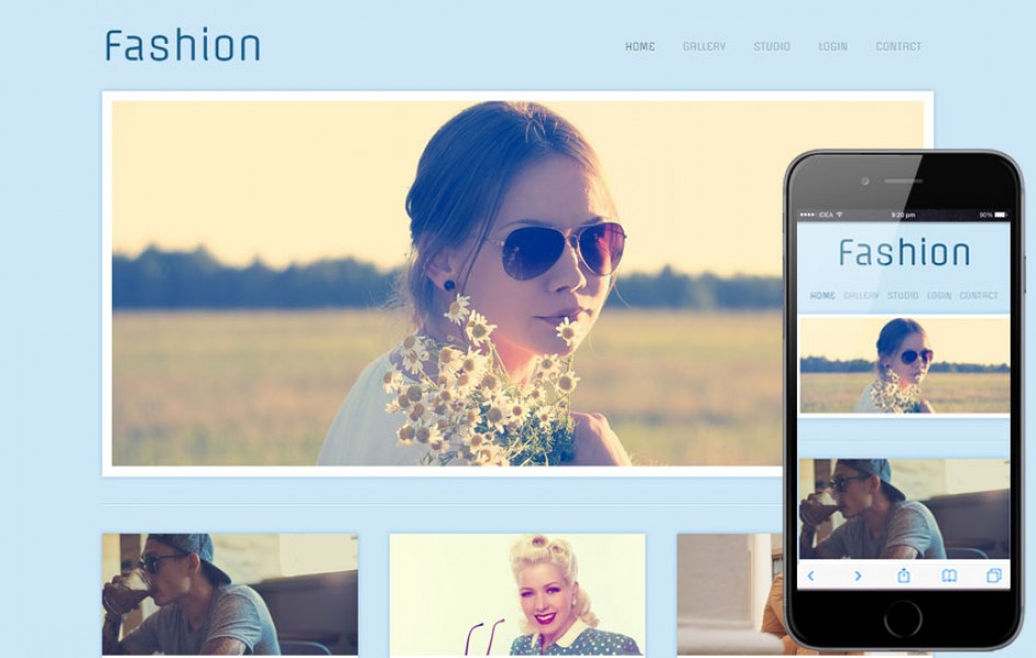 Fashion Photographers gallery web template