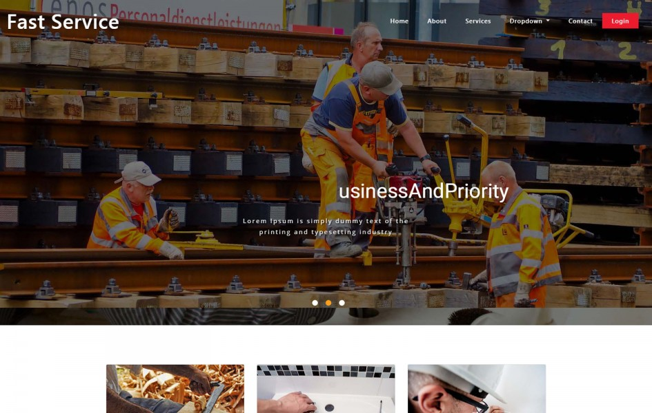 Fast Service Home Services Bootstrap Responsive Web Template