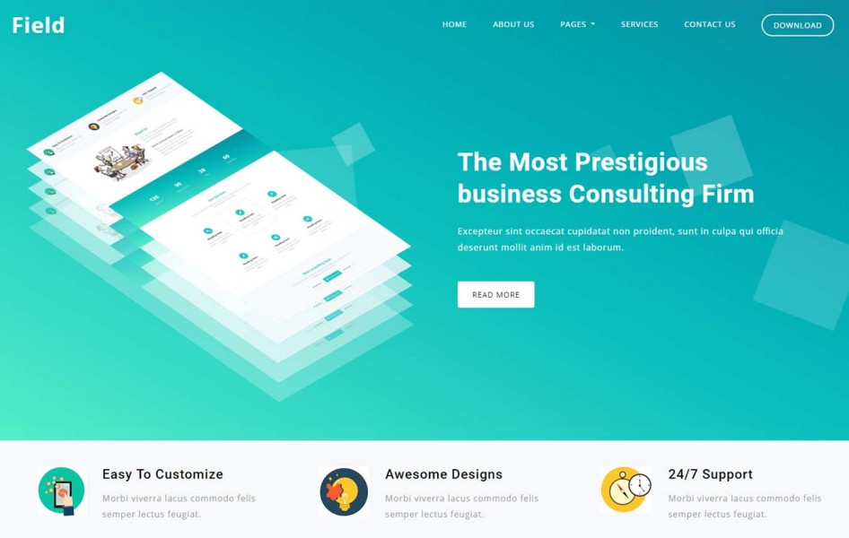 Field Corporate Business Category Bootstrap Responsive Web Template