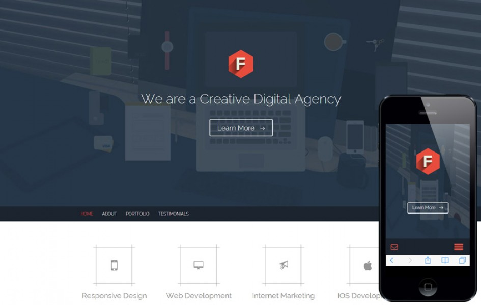 Flat Style Multipurpose Flat Responsive Web Template