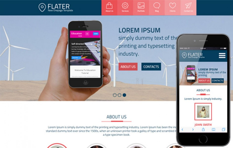 Flater a Single Page Multi Purpose Flat Bootstrap Responsive Web Template