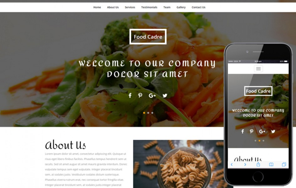 Food Cadre a Restaurant Category Bootstrap Responsive Web Template