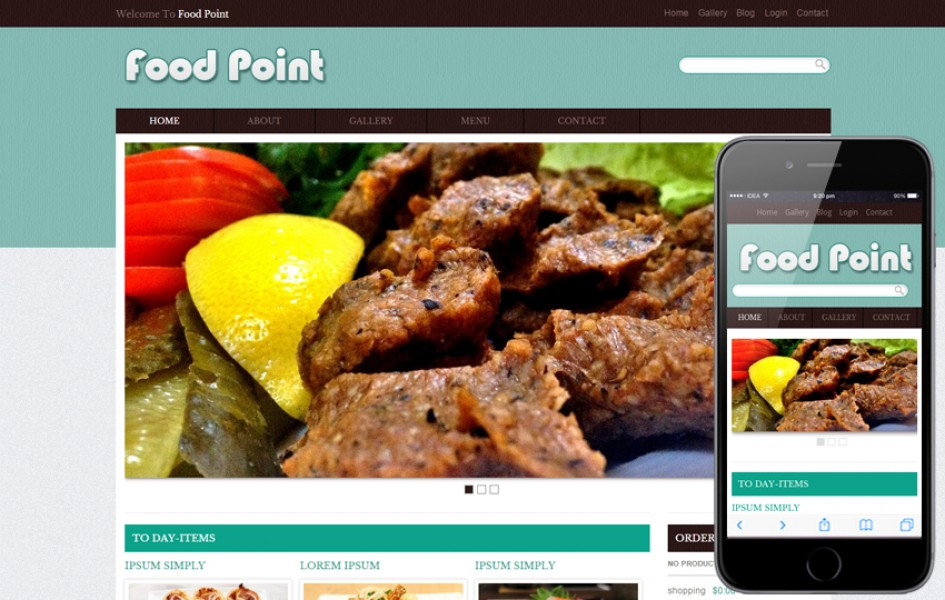 Food Point Web and Mobile Template for Free