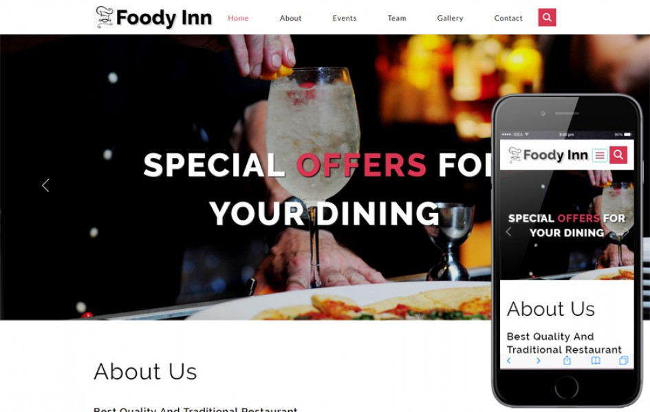 Foody Inn Restaurants Category Bootstrap Responsive Web Template