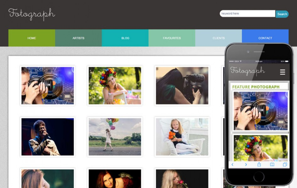 Fotograph Web and Mobile Template for Free