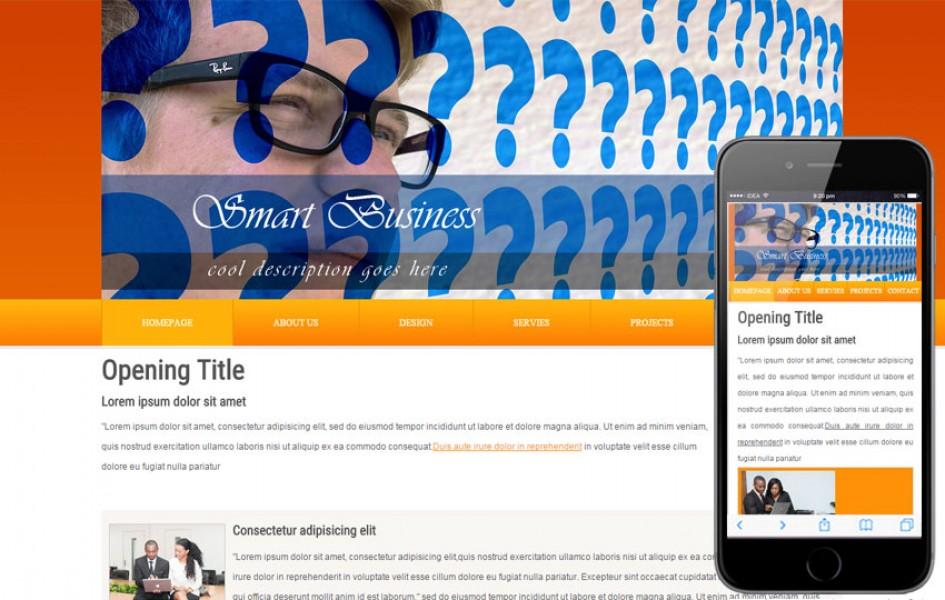 Free Smart Business Web and Mobile Template for Companies