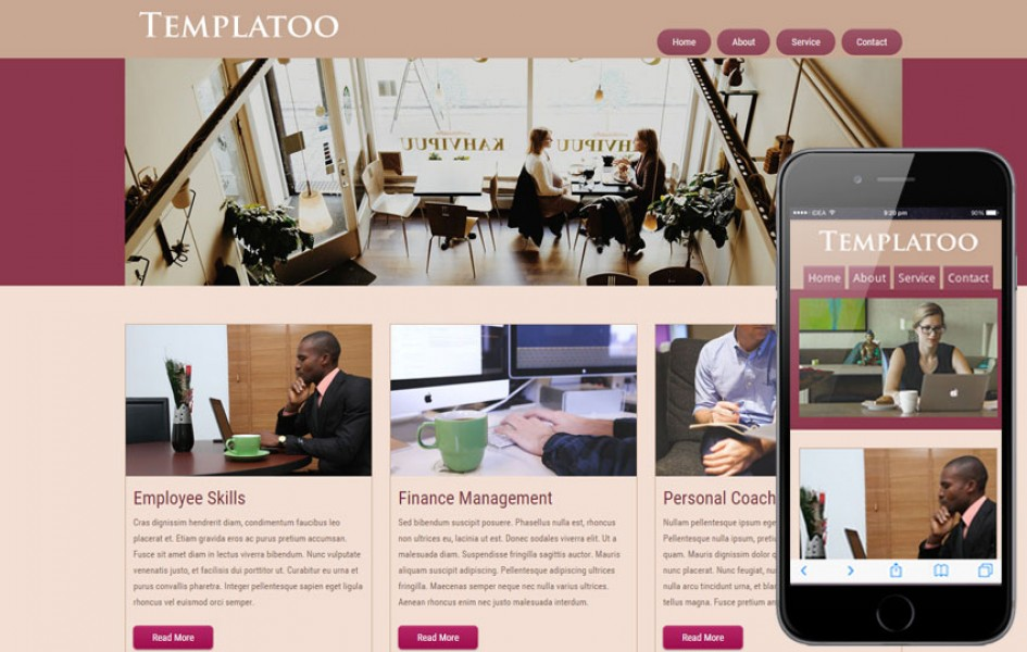 Free Templatoo Web Template and Mobile Template for Corporate Companies