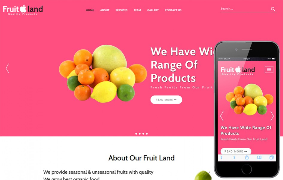Fruit Land an Agriculture Category Bootstrap Responsive Web Template