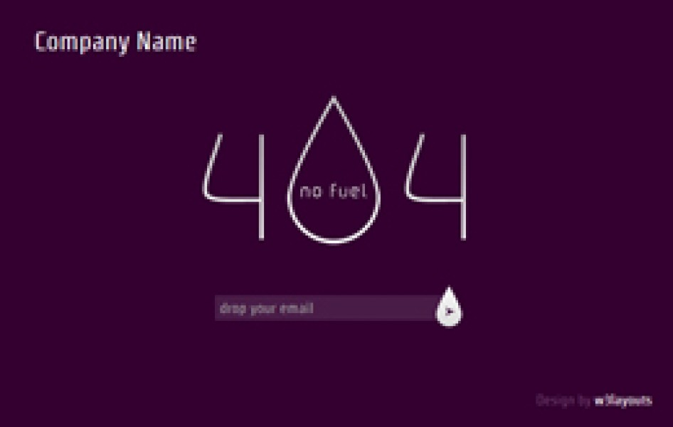 Fuel 404 page not found web and mobile template