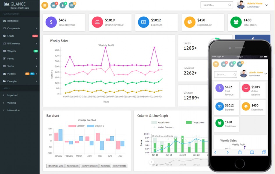 Glance Design Dashboard Bootstrap Responsive Web Template