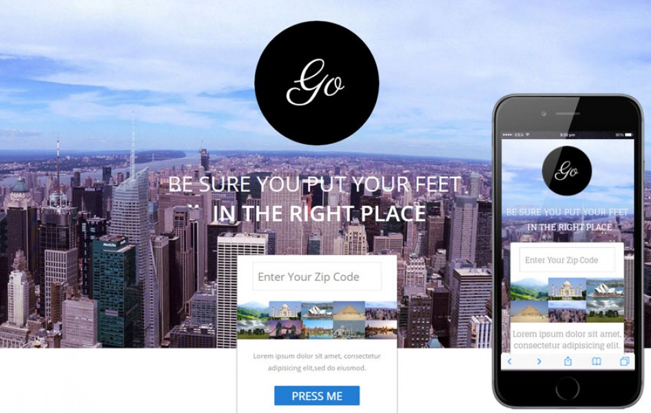 Go Single Page a Travel Flat Responsive Web Template