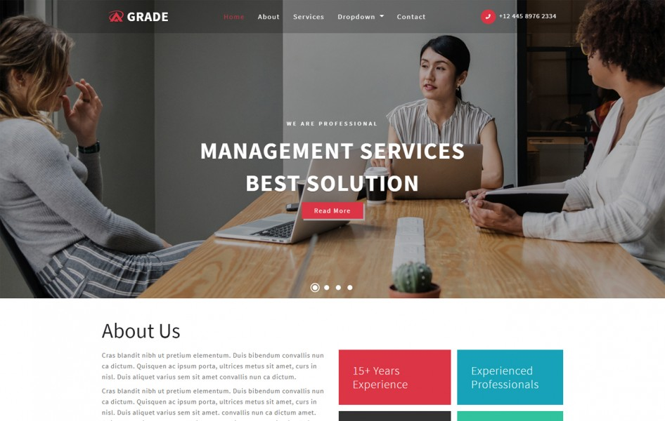 Grade Corporate Category Bootstrap Responsive Web Template