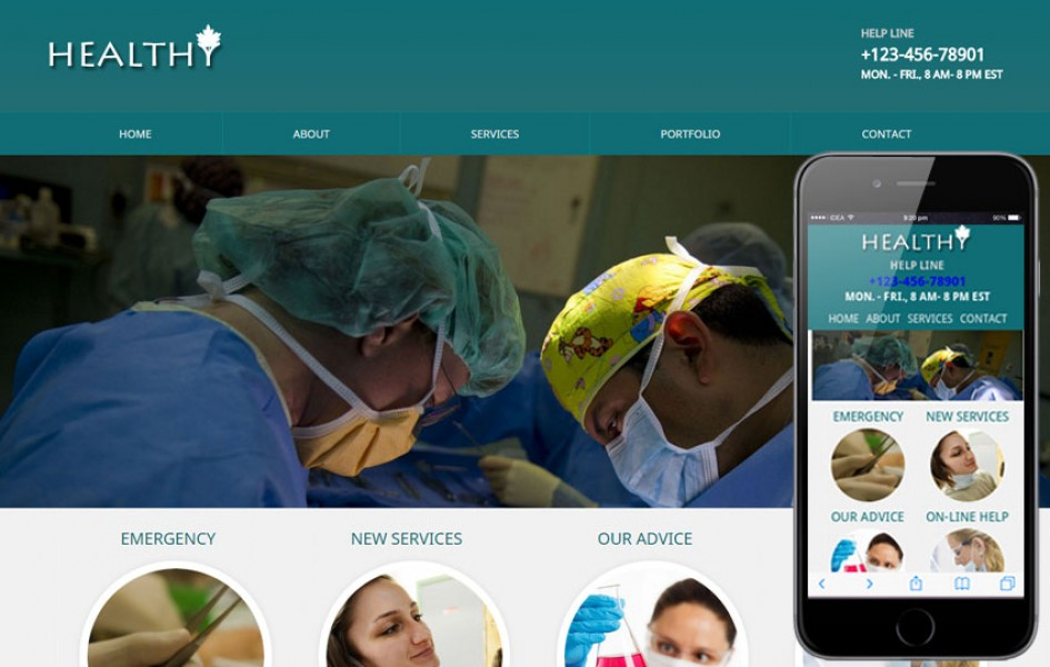 Healthy Mobile Website Template