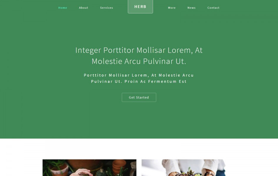 Herb an Agriculture Category Bootstrap Responsive Web Template