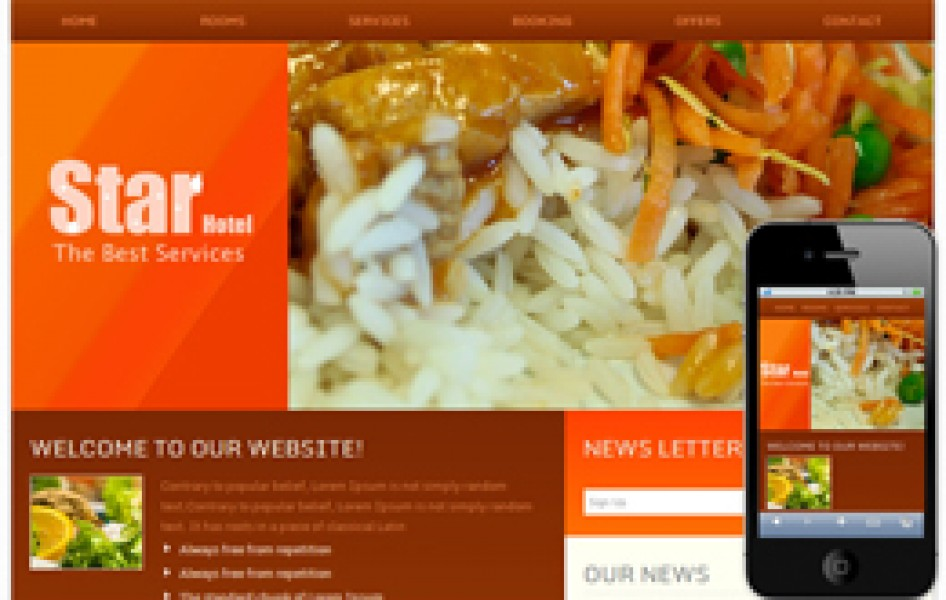 Hotel Star Hotel Web and Mobile Web Template
