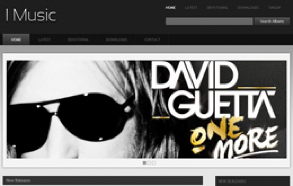 I Music Audio Albums Gallery Website Template for free