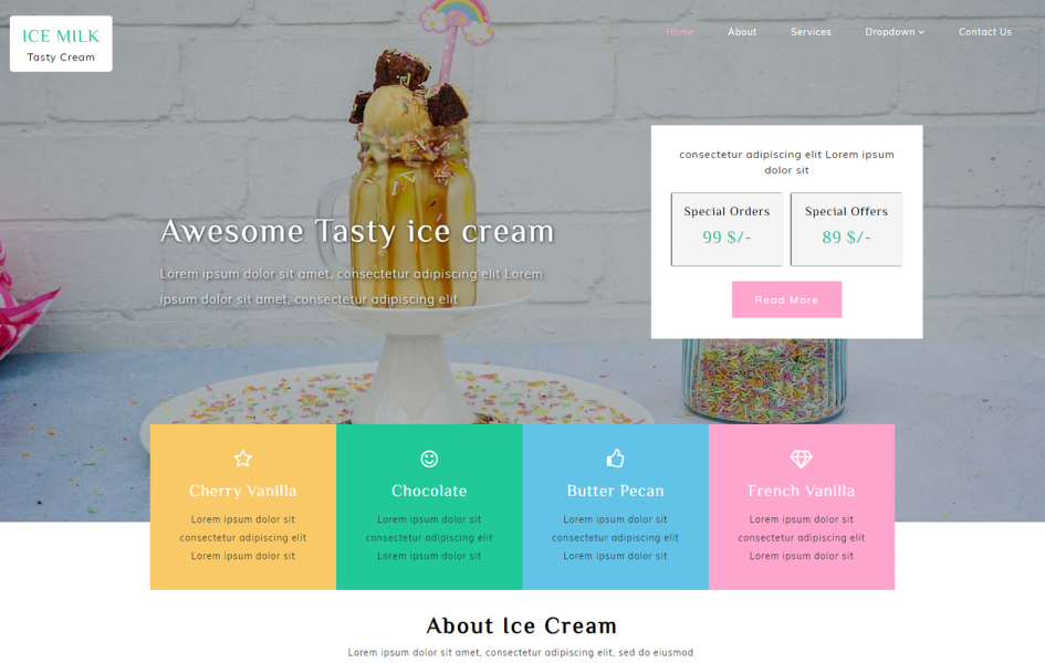 Ice Milk – Hotel Category Bootstrap Responsive Web Template
