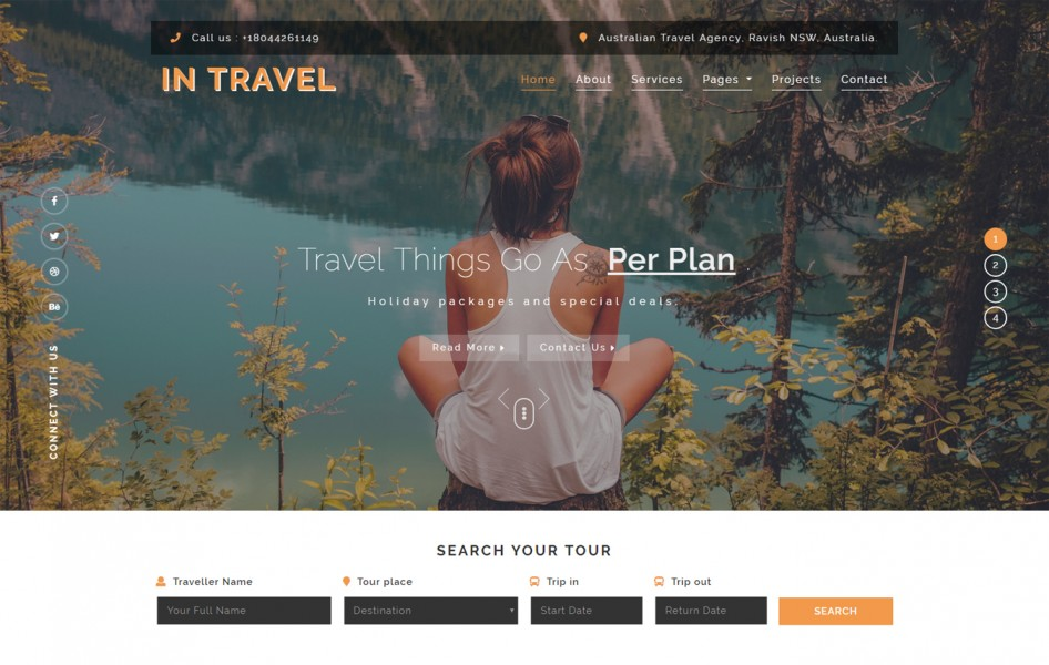 In-Travel Travel Category Bootstrap Responsive Web Template