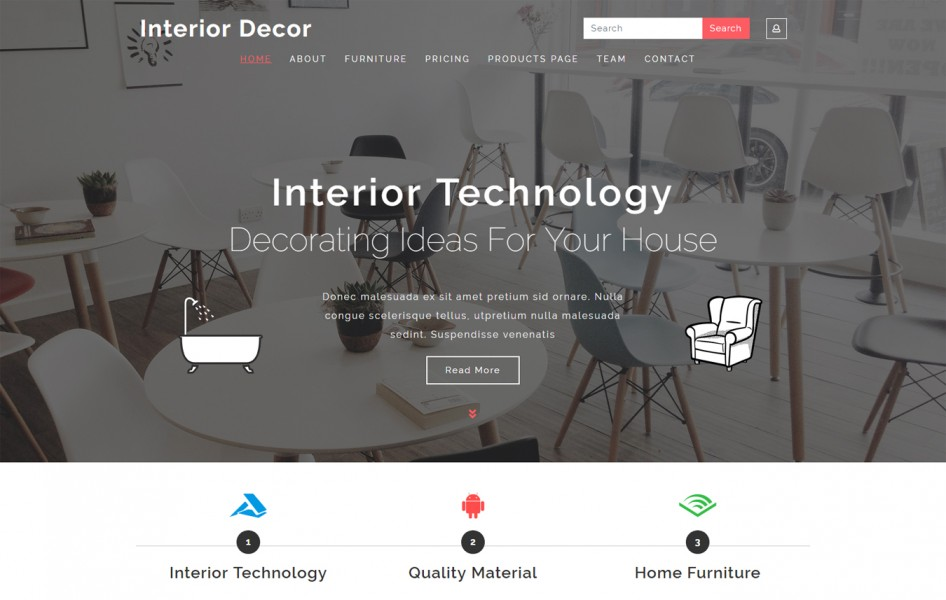 Interior Decor Interior Category Bootstrap Responsive Web Template