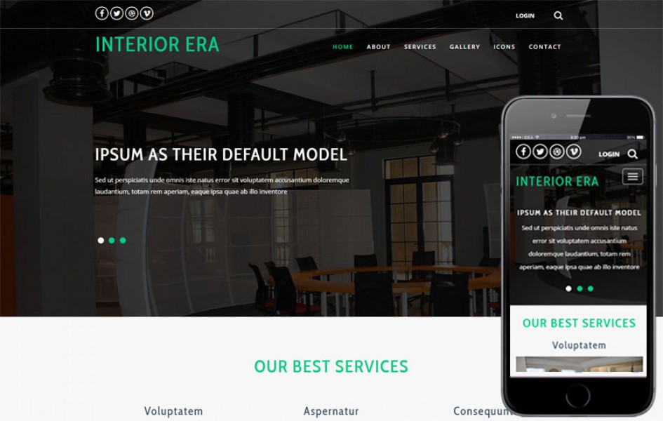 Interior Era an Interior Category Bootstrap Responsive Web Template