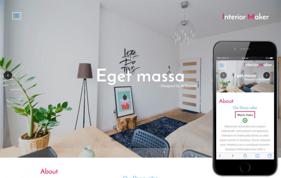Interior Maker an Interior Category Bootstrap Responsive Web Template