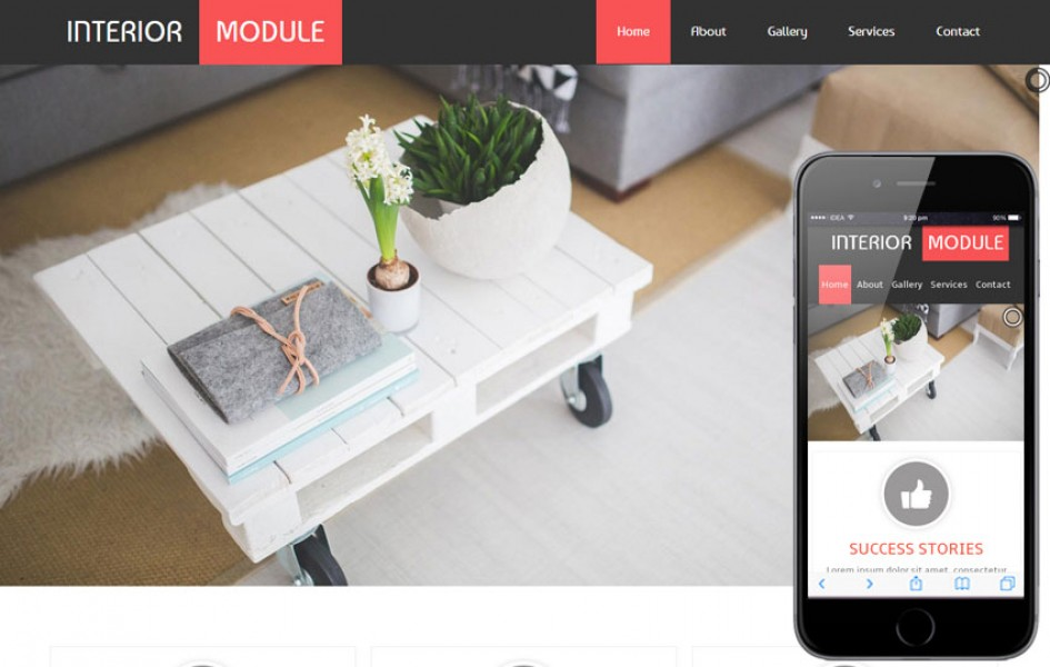 Interior Module a Interior Architects Mobile Website Template