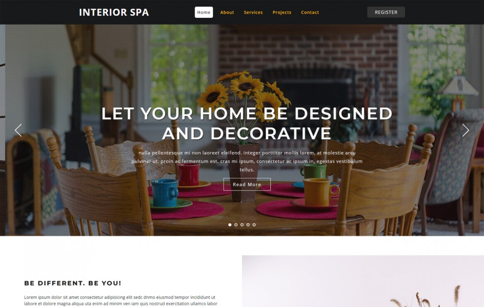 Interior Spa Interior Category Bootstrap Responsive Web Template
