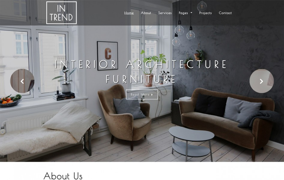 Intrend Interior Category Bootstrap Responsive Web Template