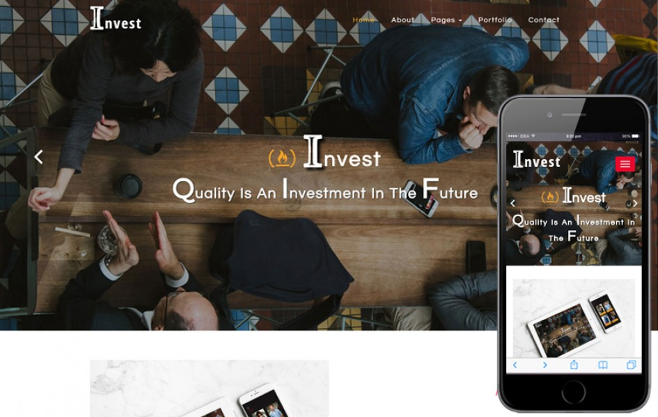 Invest Corporate Category Bootstrap Responsive Web Template