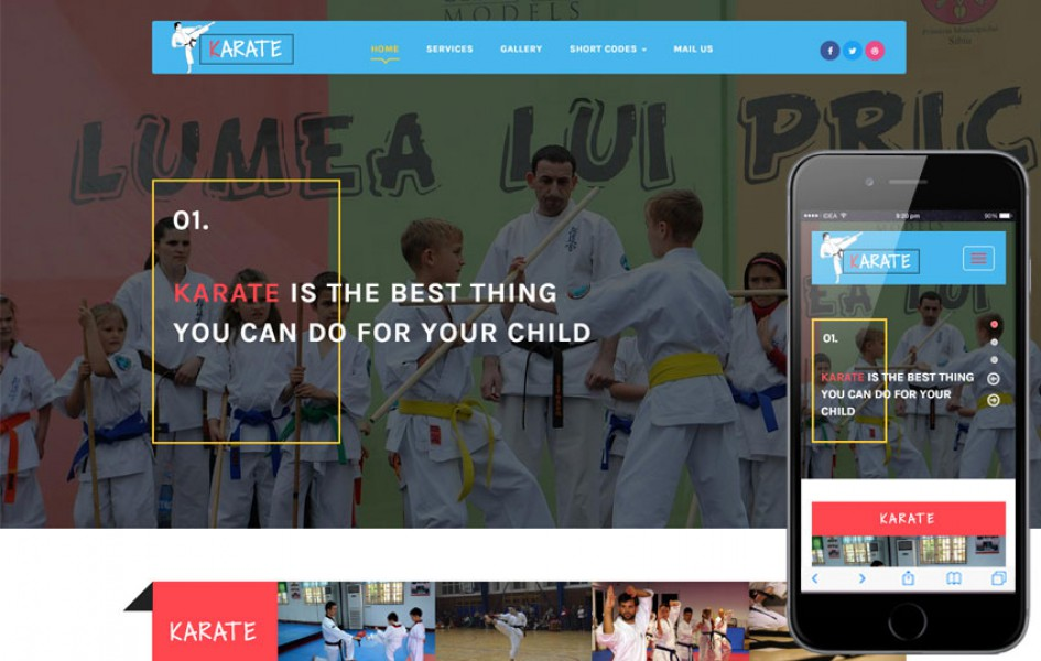 Karate a Sports Category Flat Bootstrap Responsive Web Template
