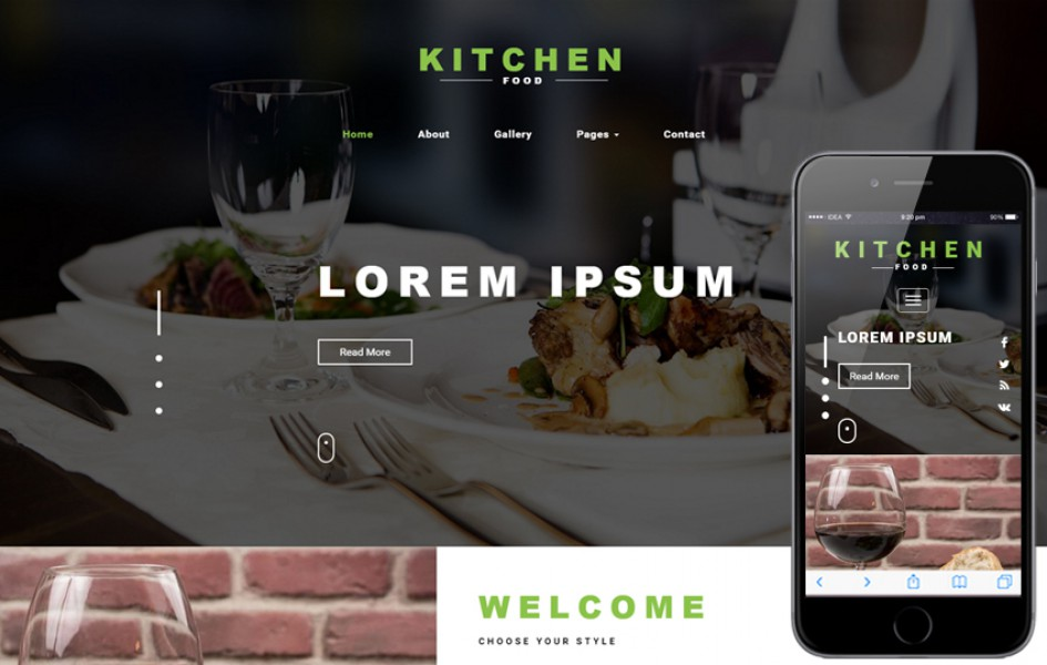 Kitchen Food a Restaurants Category Bootstrap Responsive Web Template