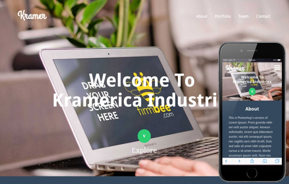 Kramer a Industrial Portfolio Flat Bootstrap Responsive Web Template