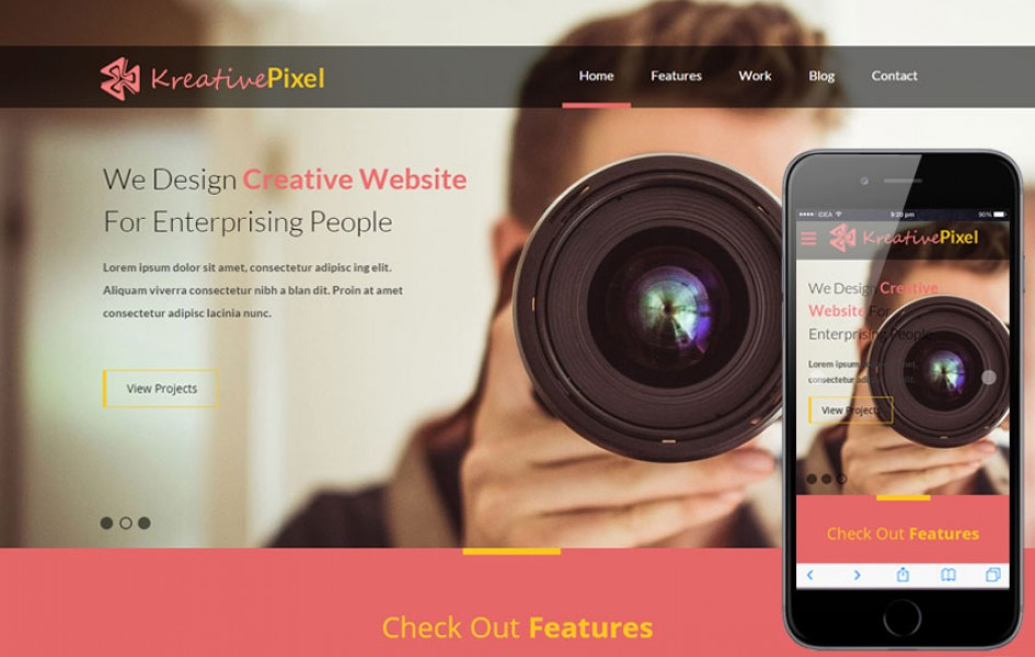 Kreative Pixel a Corporate Responsive Web Template