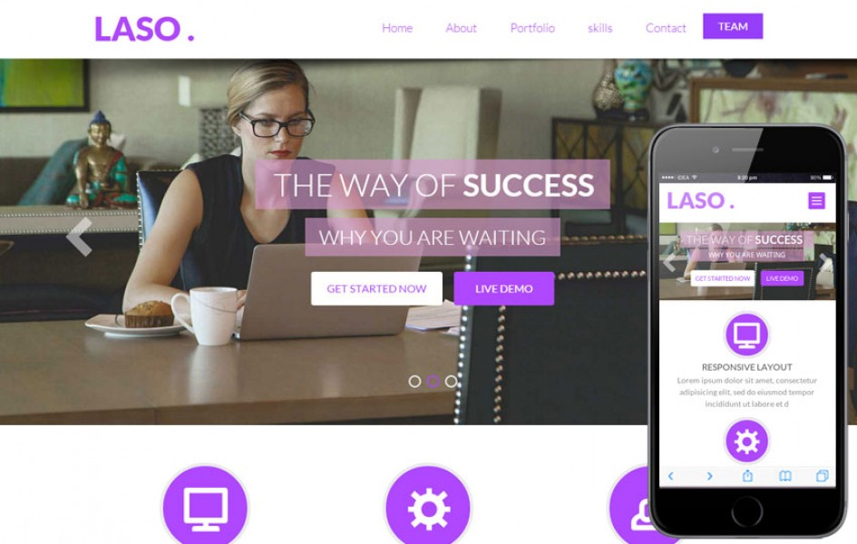 Laso a Single Page Personal Portfolio Flat Bootstrap Responsive Web Template