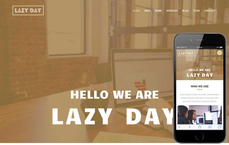 Lazy Day a Personal Portfolio Flat Bootstrap Responsive Web Template