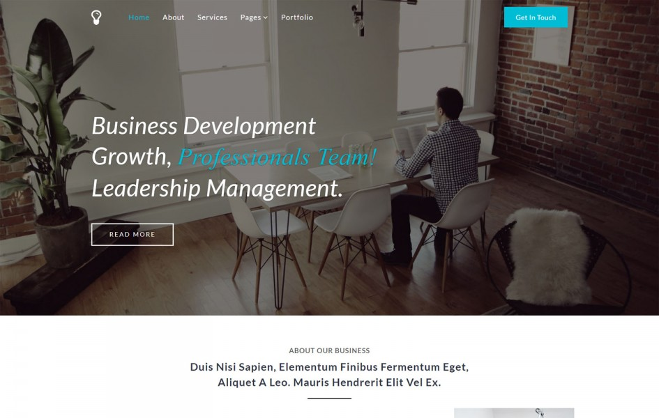 Leadership a Flat Bootstrap Responsive Web Template