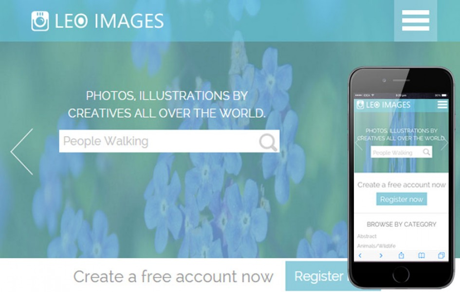 Leo Images a Flat Gallery Responsive Web Template