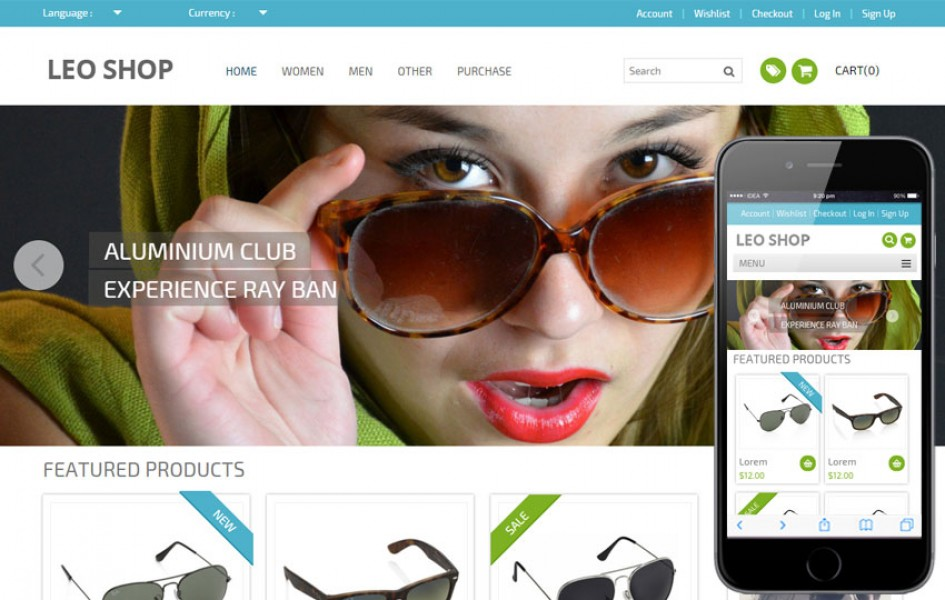 Leoshop Flat e-Commerce Responsive Web Template