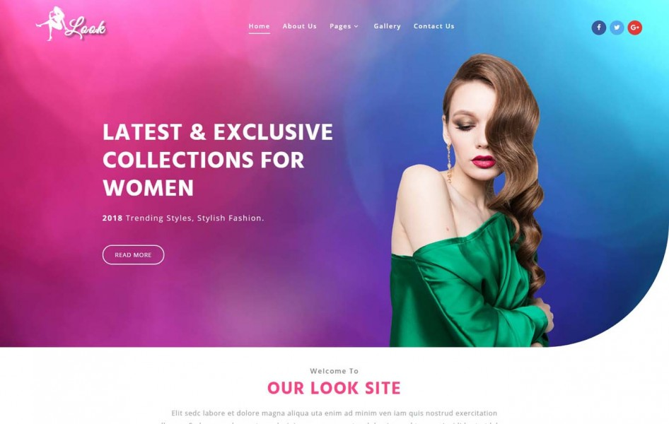 Look Fashion Category Bootstrap Responsive Web Template