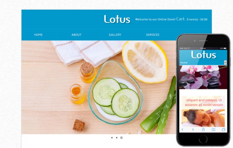 Lotus Beauty Parlour Mobile Website Template
