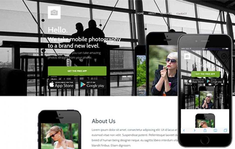 Macro a Mobile App based Flat Bootstrap Web Template