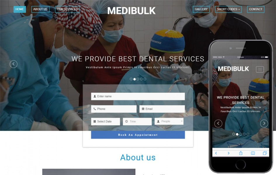 Medibulk Medical Category Bootstrap Responsive Web Template