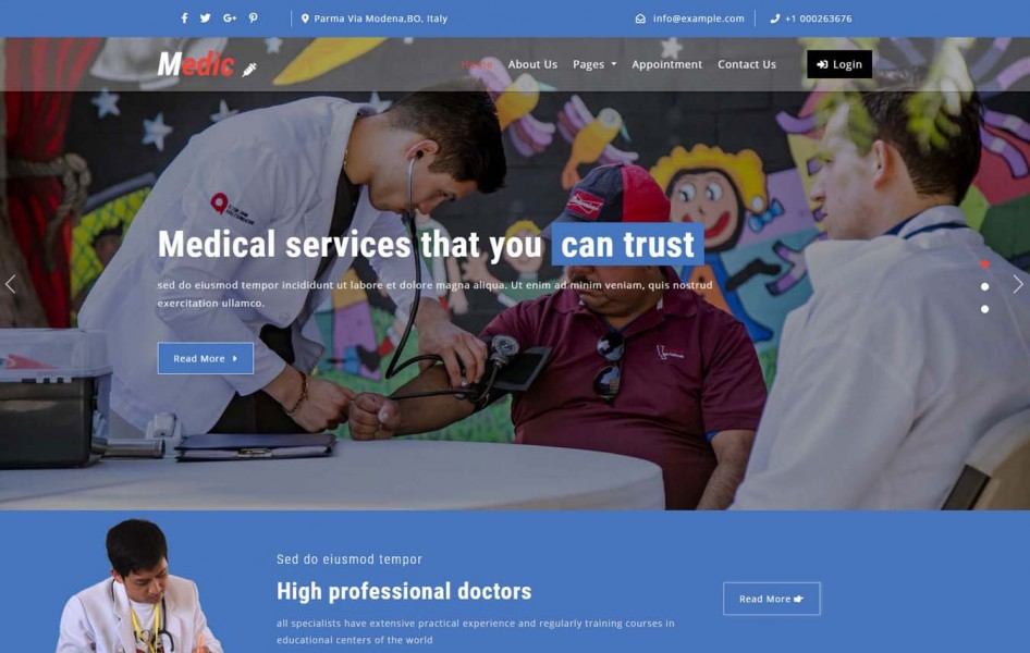 Medic Medical Category Bootstrap Responsive Web Template